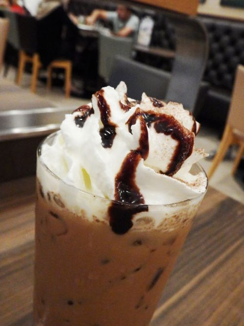 Iced Chocolate Drink With Cream