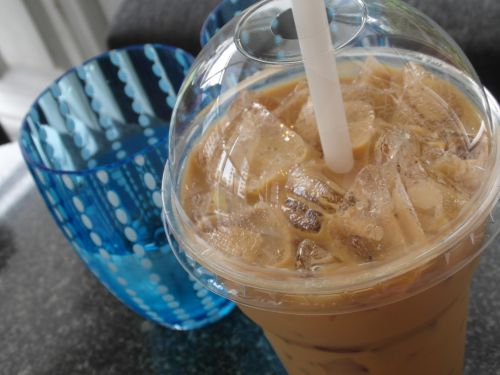 Iced Coffee And Water
