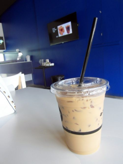 Iced Coffee In A Cafe