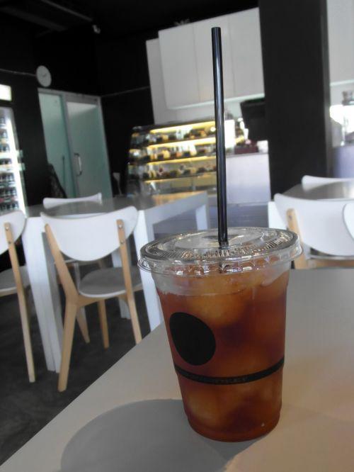 Iced Lemon Tea In A Cafe