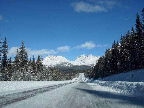 icefields parkway snow scenic