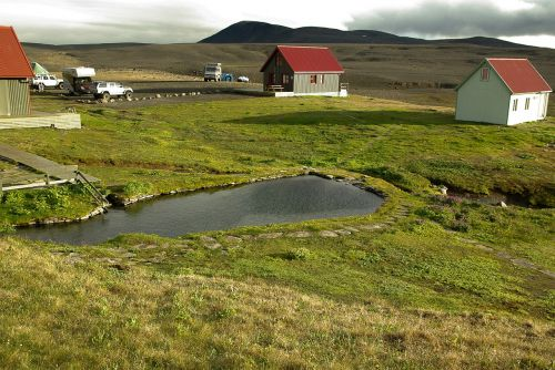 iceland laugafell hot springs