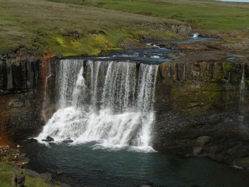 iceland waterfall east iceland