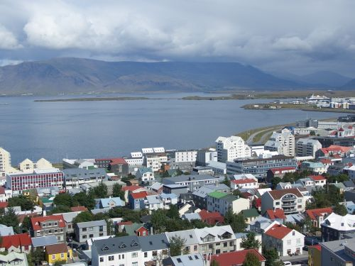 iceland,Reikjavikas,jūra,kraštovaizdis