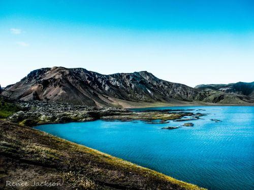 kalnai, iceland, ežeras, šventė, vaikščioti, pėsčiųjų takas & nbsp, landmannalaugar, torskorkas, iceland