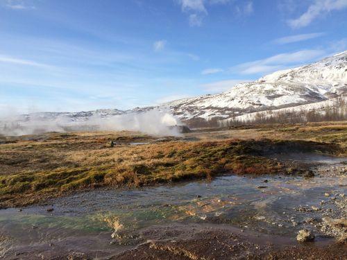 iceland geyser ice