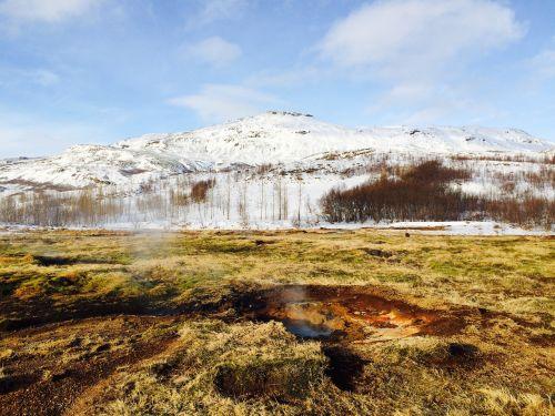 iceland geyser boiling