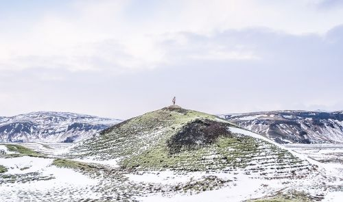 iceland hill winter
