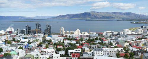 iceland,Reikjavikas,uostas,Hallgrímskirkja,perspektyva,vaizdas,panorama,miestas,kapitalas,jūra