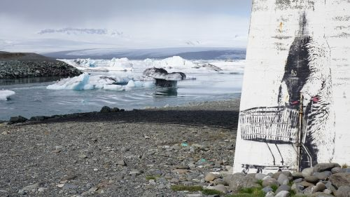 glacier iceland streetart