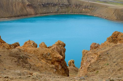 iceland crater volcano