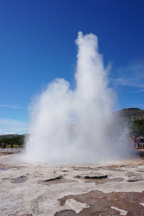 iceland island geyser