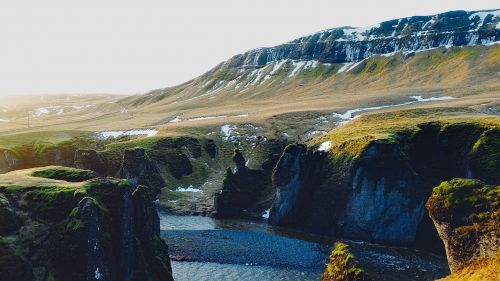 iceland,kalnai,tundra,kraštovaizdis,fjordas,upė,vanduo,uraganas,Gorge,gamta,lauke,kaimas,Nuotolinis,hdr,sniegas