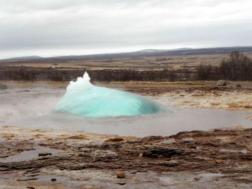 iceland geyser hot source