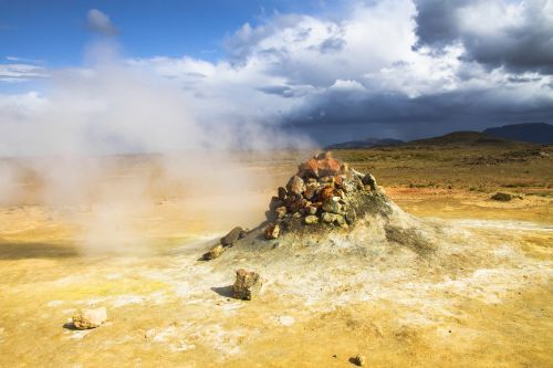 iceland sulfur steam