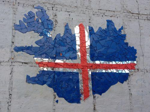 iceland street art flag