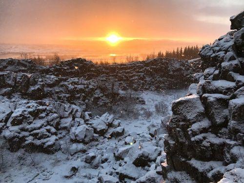 iceland,saulėlydis,sniegas