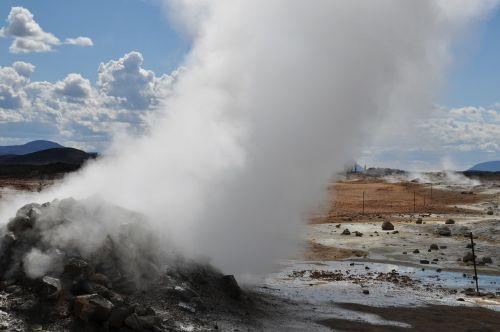 iceland,vulkanas,vulkanizmas,išsipūsti,karštas,siera,geizeris,karštas šaltinis,gamta,Hverarönd