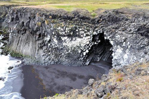 iceland,uolos,búðardalur,urvas,Rokas,Vukangesteinas,balandinis balastas,juodas paplūdimys