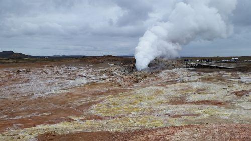 iceland hot source steam