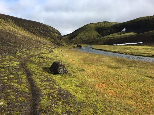 iceland tracking nature
