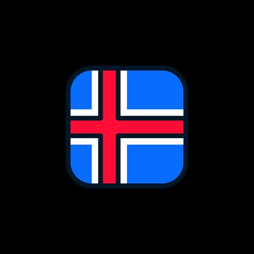 iceland  iceland icon  iceland flag