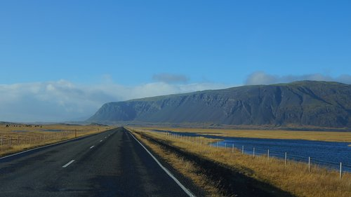 iceland  south coast road  the main highway