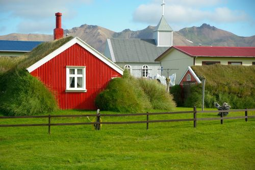 iceland,bažnyčia,veja,namas