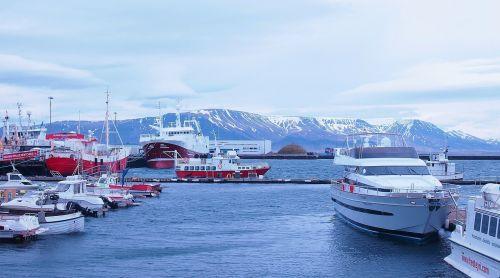 iceland,uostas,Reikjavikas