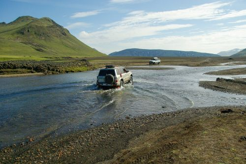 iceland river ford