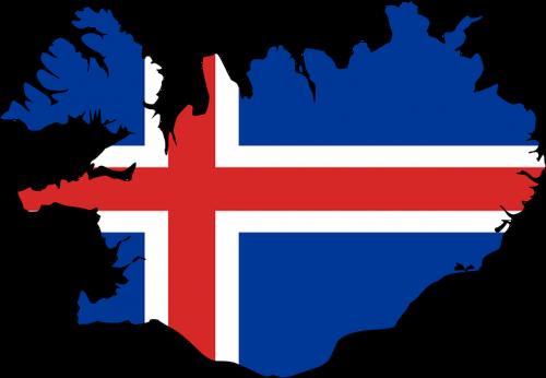 iceland map flag