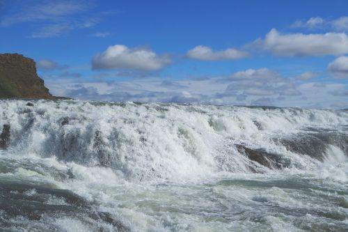 gullfoss iceland cascade