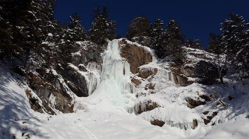 icicle waterfall ice