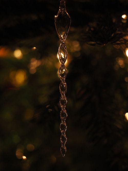 icicle glass jewellery christmas