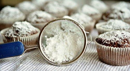icing sugar  sieve  dessert