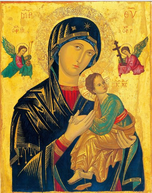 mother of perpetual help icon madonna