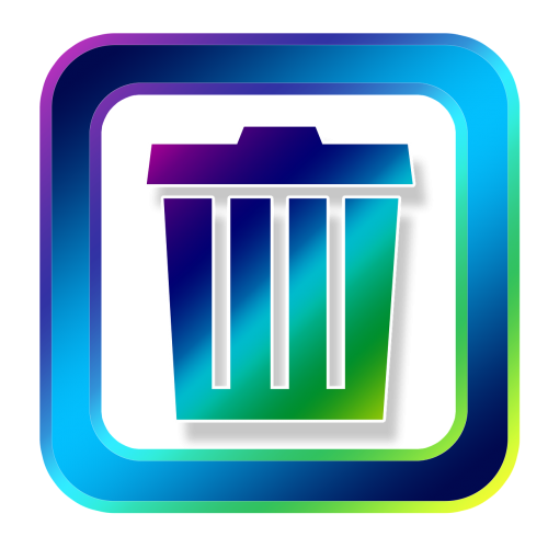 icon recycle bin waste