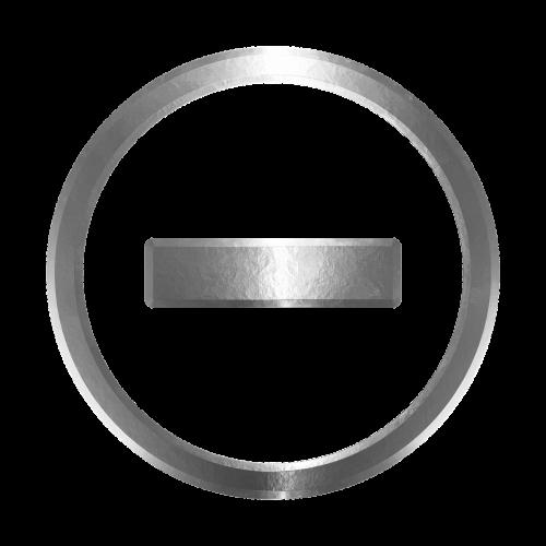 icon negative decrease