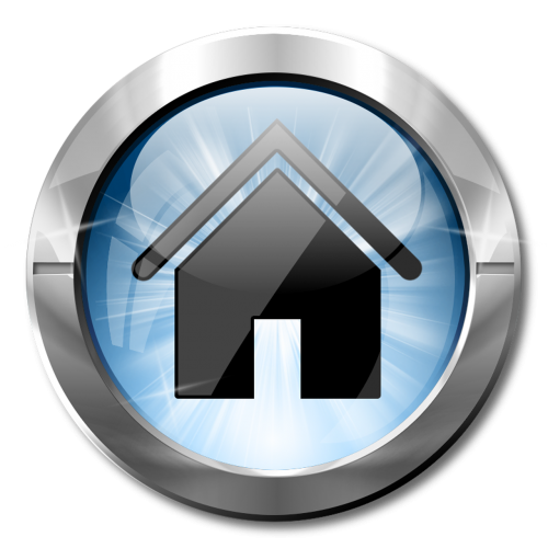 icon home blue