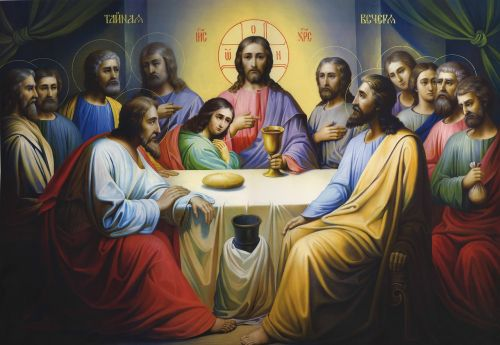 icon lord's supper religion