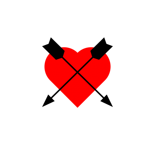 icon heart arrow