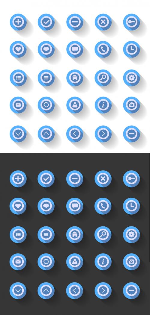 icon flat design circle