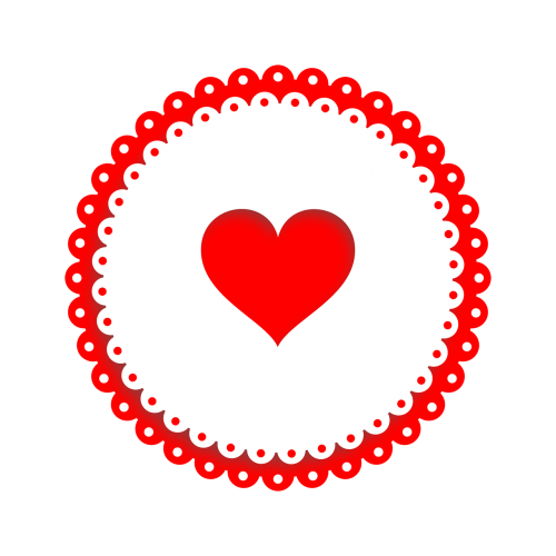 icon heart red