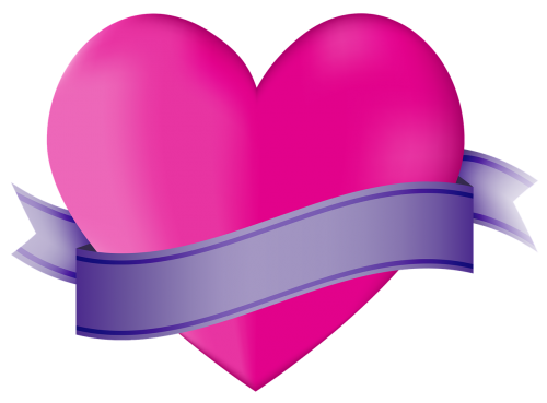 icon heart ribbon