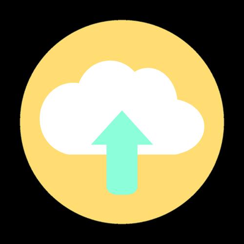 icon  cloud upload  cloud