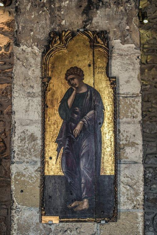 icon  wooden  byzantine