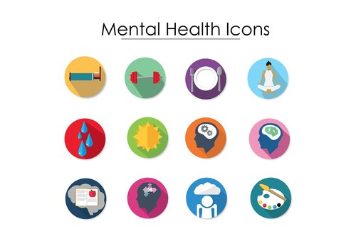 icon  mental health  thinking