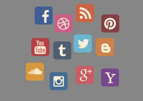 icon set social media contact