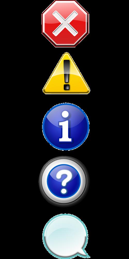 icon set stop cancel
