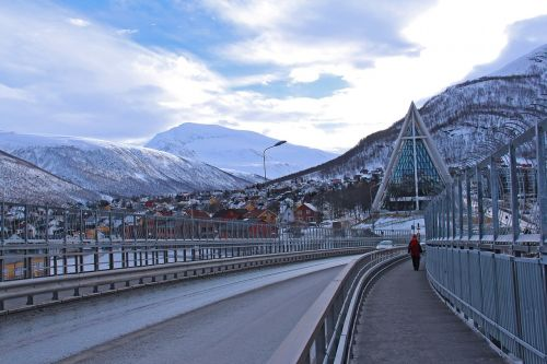 iconic cathedral tromso bridge